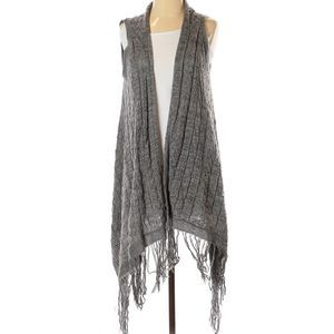 Knox Rose | sleeveless gray boho cardigan